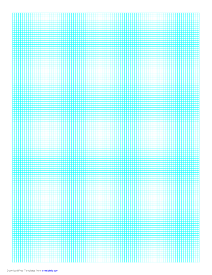 Graph Paper on A4 Paper (1 Line Every 2 mm)
