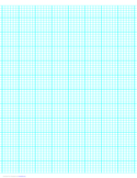 6 Lines per Inch Graph Paper on A4-sized Paper (Heavy)