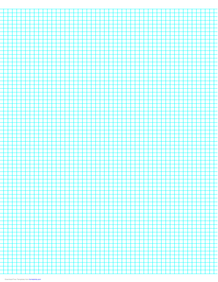 6 Lines per Inch Graph Paper on A4-Sized Paper Free Download
