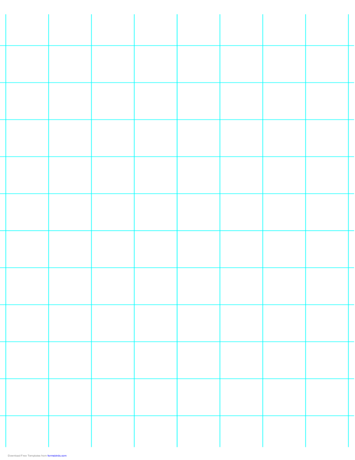 1 Line per Inch Graph Paper on A4-Sized Paper