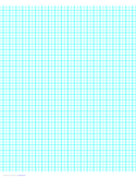 1 Line per 5 mm Graph Paper on A4 Paper (Centimeter)