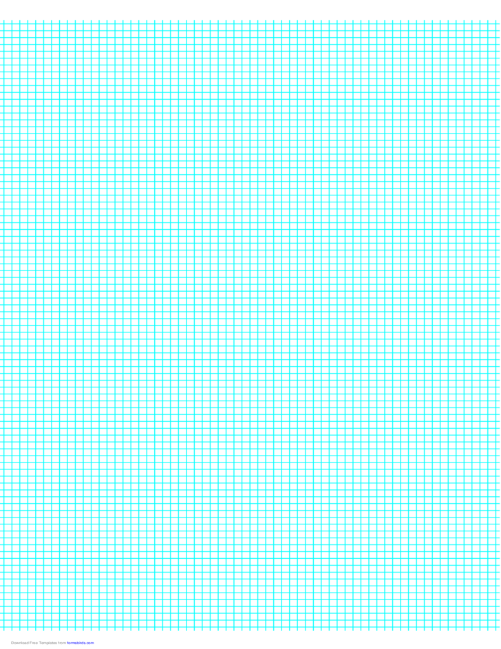 3 Lines per cm Graph Paper on A4-Sized Paper