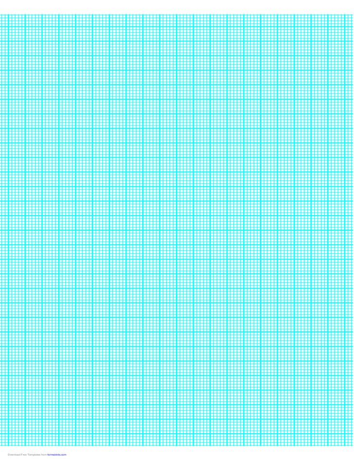 5 Lines per cm Graph Paper on A4-Sized Paper (Heavy)