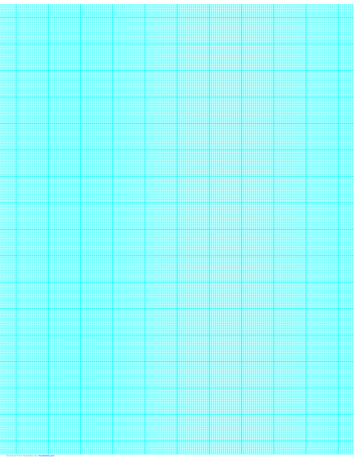 16 Lines per Inch Graph Paper on Ledger-Sized Paper (Heavy)