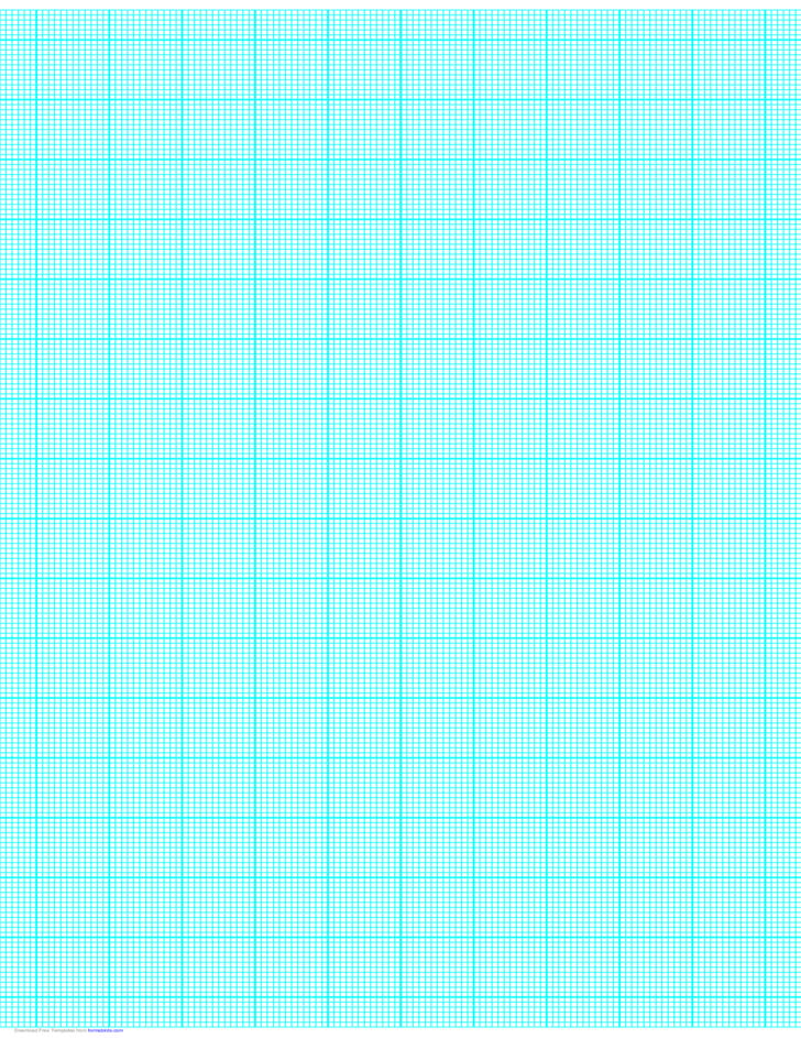 12 Lines per Inch Graph Paper on Ledger-Sized Paper (Heavy)