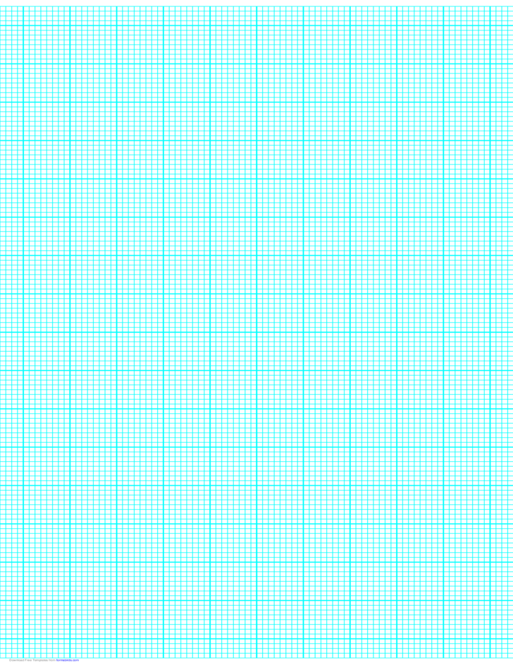 8 Lines per Inch Graph Paper on Ledger-Sized Paper (Heavy)