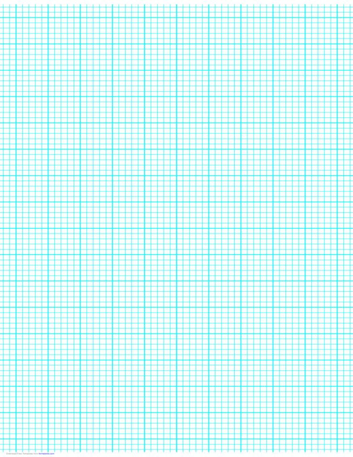 5 Lines per Inch Graph Paper on Ledger-Sized Paper (Heavy)