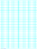 4 Lines per Inch Graph Paper on Ledger-Sized Paper (Heavy)