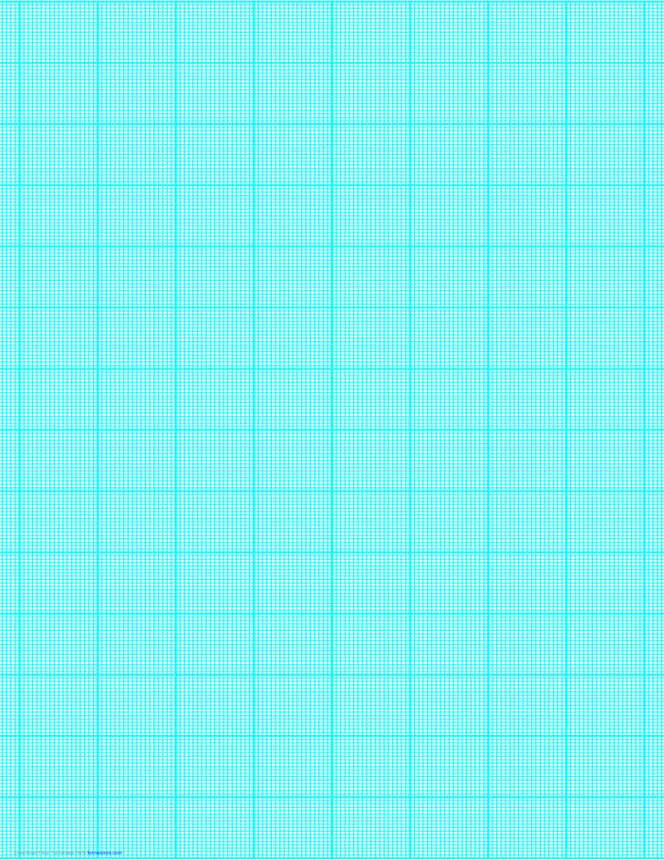 18 Lines per Inch Graph Paper on Legal-Sized Paper (Heavy)