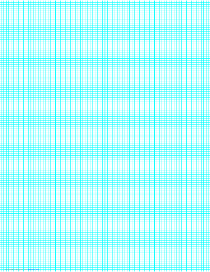 10 Lines per Inch Graph Paper on Legal-Sized Paper (Heavy)