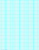 8 Lines per Inch Graph Paper on Legal-Sized Paper (Heavy)