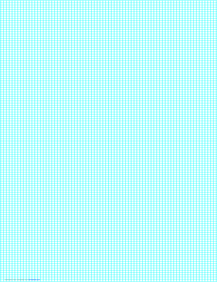 9 Lines per Inch Graph Paper on Legal-Sized Paper