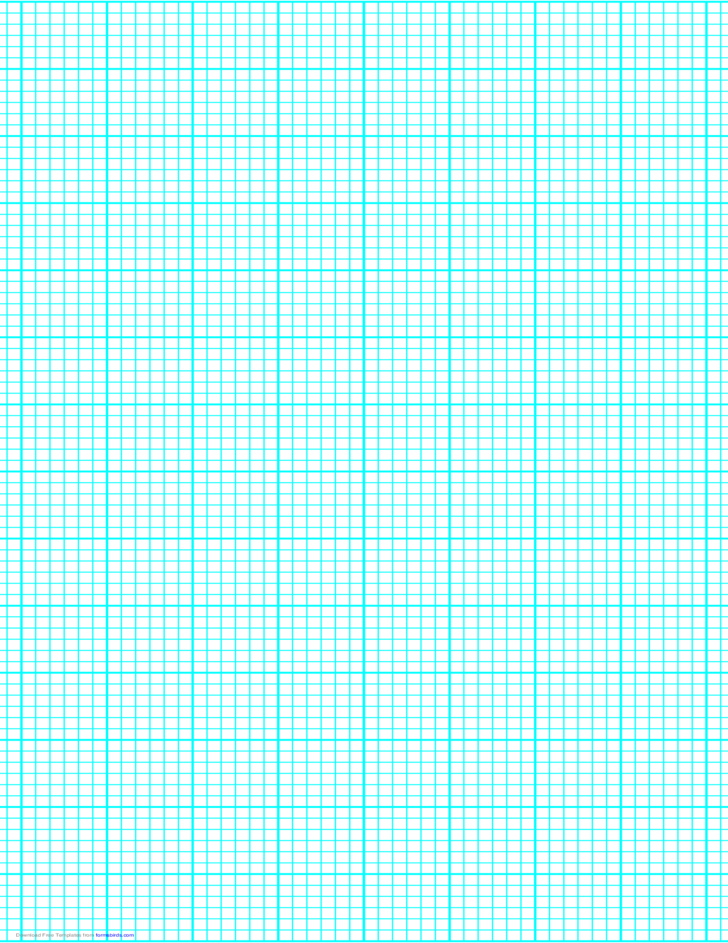 6 Lines per Inch Graph Paper on Legal-Sized Paper (Heavy)