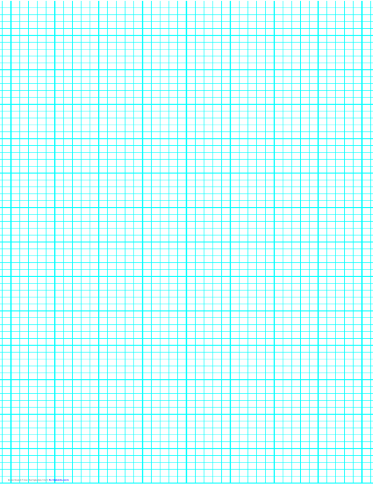 5 Lines per Inch Graph Paper on Legal-Sized Paper (Heavy)