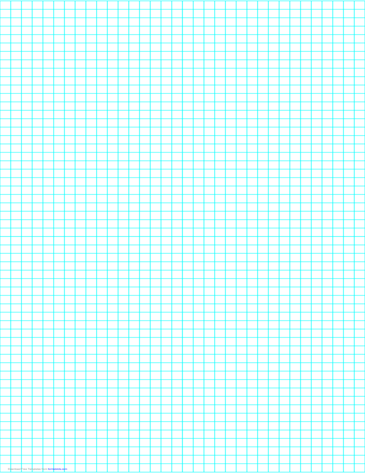 4 Lines per Inch Graph Paper on Legal-Sized Paper
