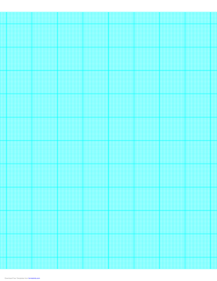 18 Lines per Inch Graph Paper on Letter-Sized Paper (Heavy)