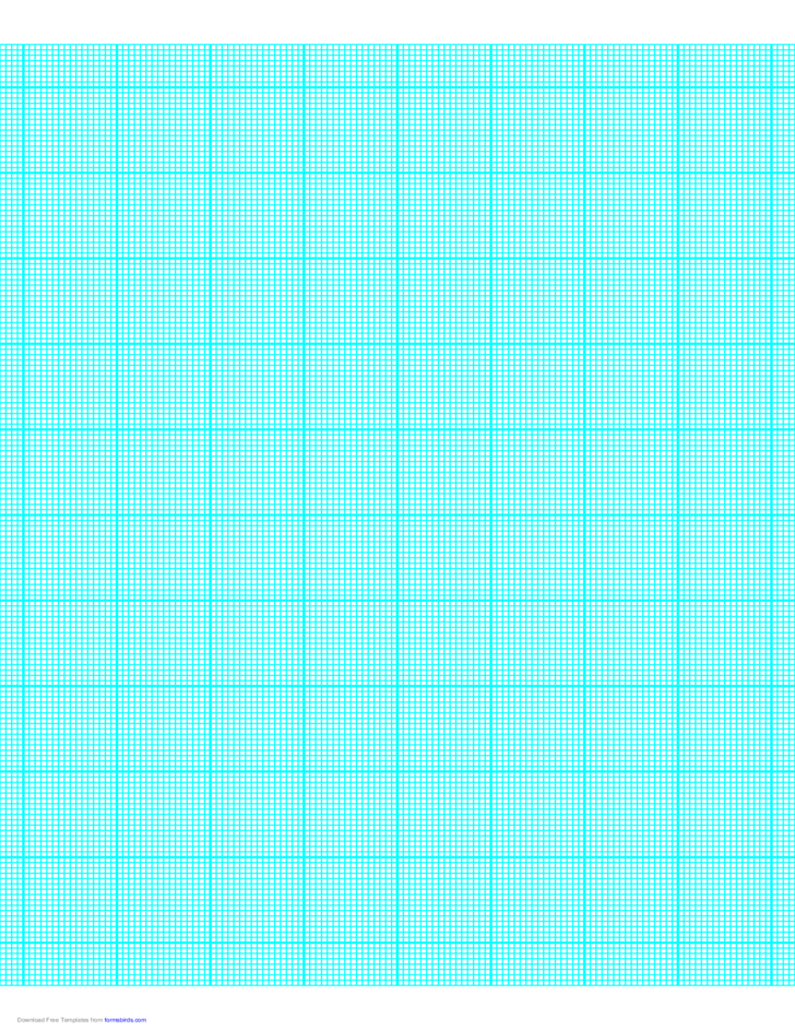 16 Lines per Inch Graph Paper on Letter-Sized Paper (Heavy)