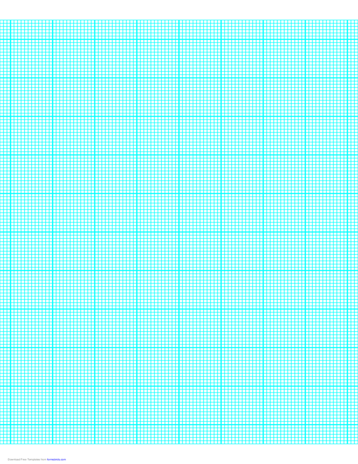 12 Lines per Inch Graph Paper on Letter-Sized Paper (Heavy)
