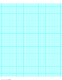 10 Lines per Inch Graph Paper on Letter-Sized Paper (Heavy)
