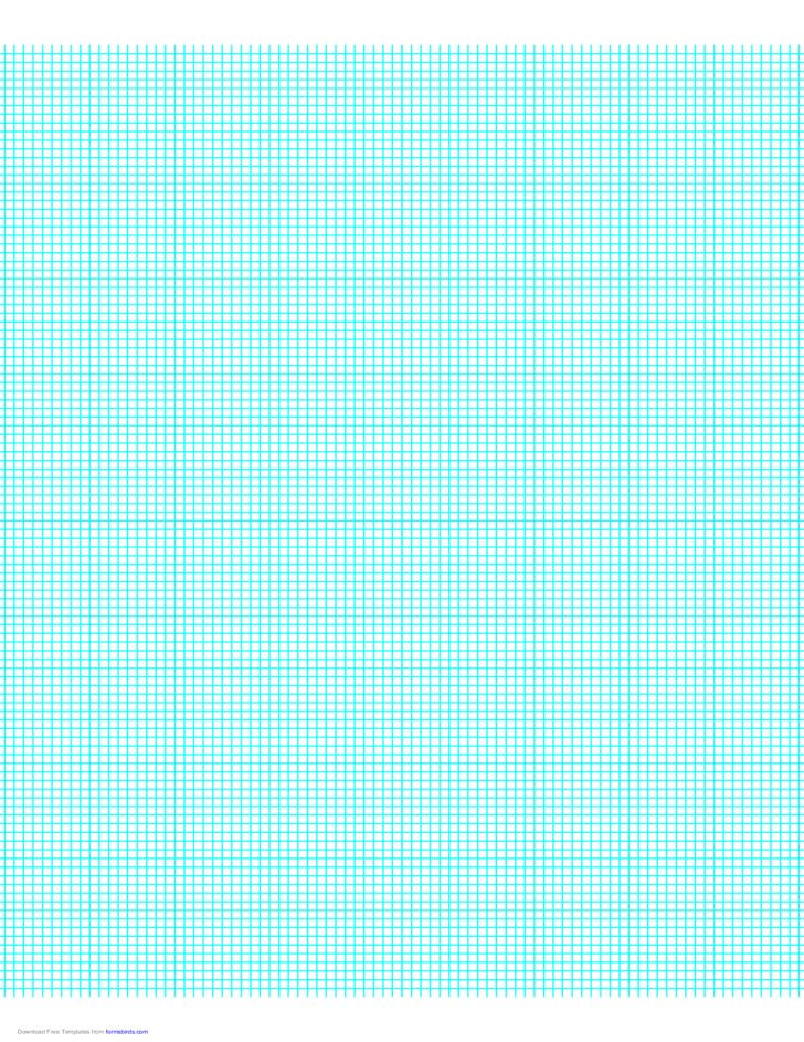10 Lines per Inch Graph Paper on Letter-Sized Paper