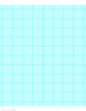 9 Lines per Inch Graph Paper on Letter-Sized Paper (Heavy)