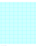 7 Lines per Inch Graph Paper on Letter-Sized Paper (Heavy)