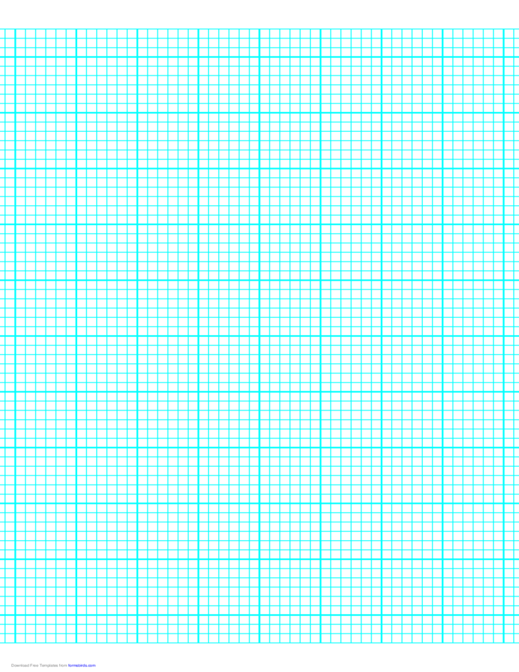 6 Lines per Inch Graph Paper on Letter-Sized Paper (Heavy)