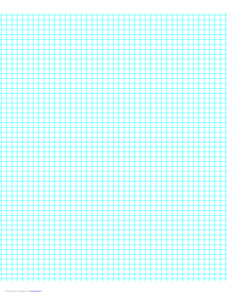 5 Lines per Inch Graph Paper on Letter-Sized Paper