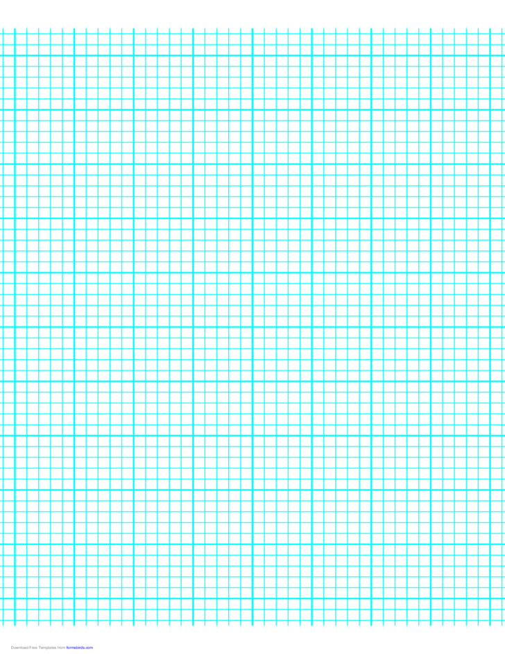 5 Lines per Inch Graph Paper on Letter-Sized Paper (Heavy)