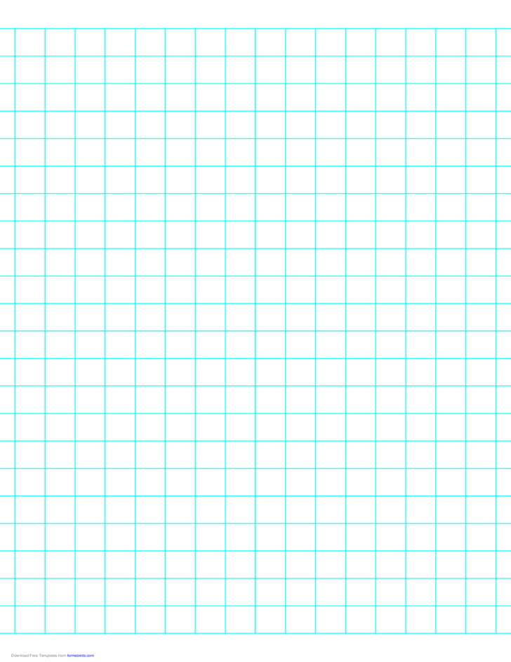 2 Lines per Inch Graph Paper on Letter-Sized Paper