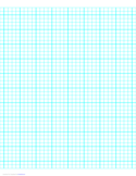 4 Lines per Inch Graph Paper on Letter-Sized Paper (Heavy)