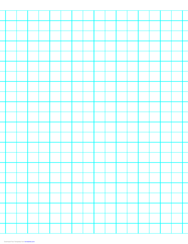 2 Lines per Inch Graph Paper on Letter-Sized Paper (Heavy)