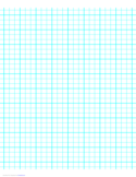 3 Lines per Inch Graph Paper on Letter-Sized Paper (Heavy)