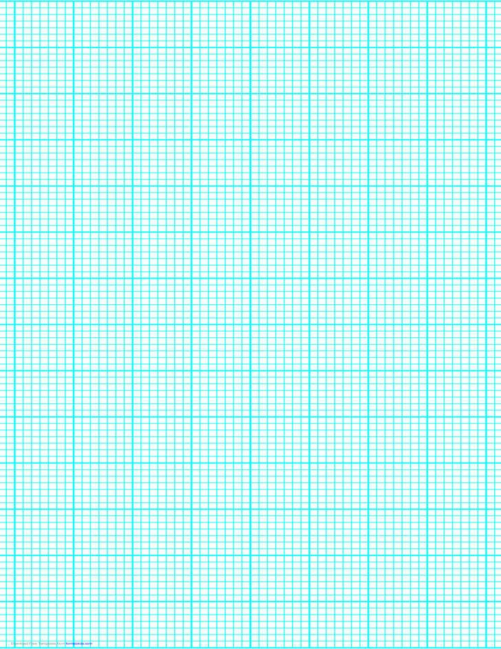 7 Lines per Inch Graph Paper on Legal-Sized Paper (Heavy)