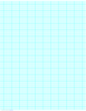 6 Lines per Inch Graph Paper on Ledger-Sized Paper (Heavy)