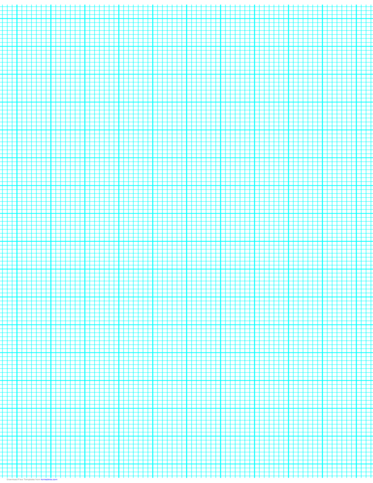 7 Lines per Inch Graph Paper on Ledger-Sized Paper (Heavy)
