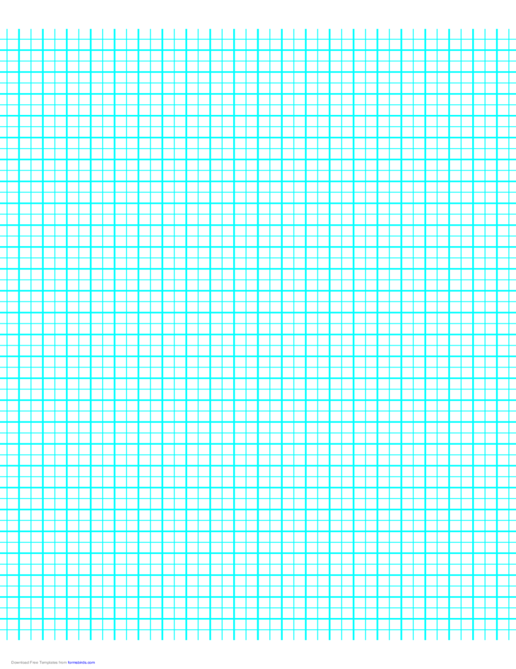 1 Line per 5 mm Graph Paper on Letter-Sized Paper