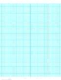 8 Lines per Inch Graph Paper on Letter-Sized Paper (Heavy)
