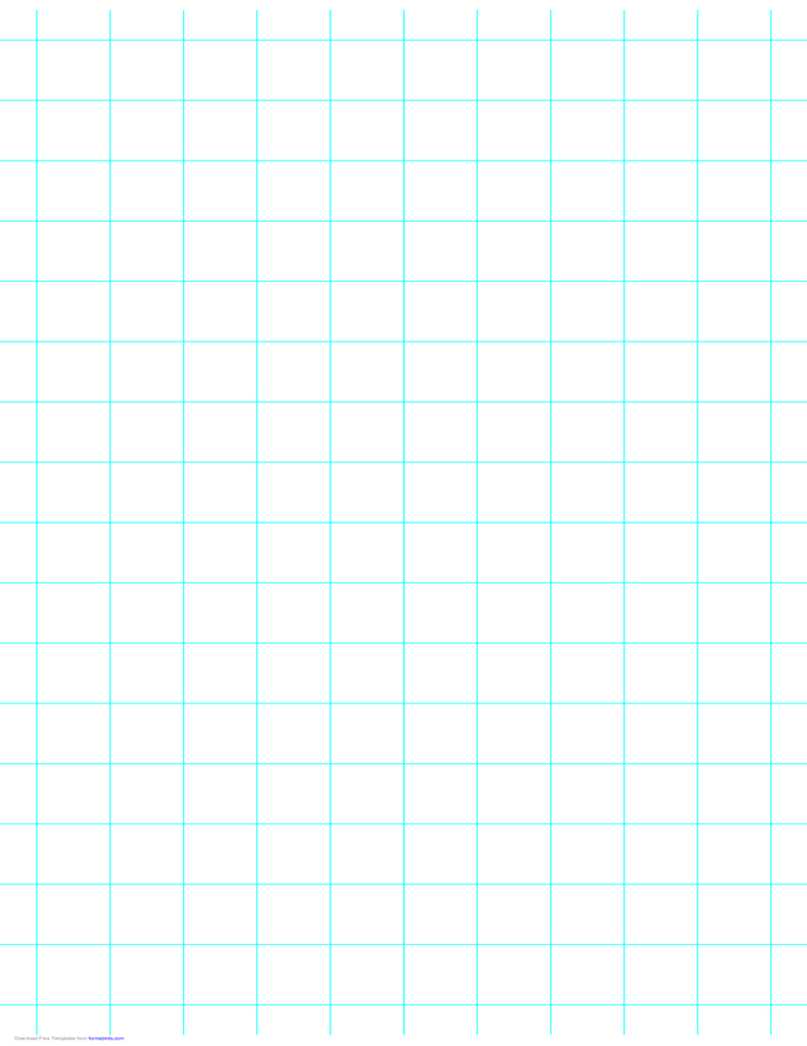 1 Line per Inch Graph Paper on Ledger-Sized Paper