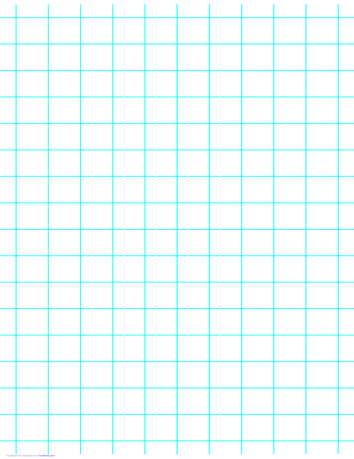 1 Line per Inch Graph Paper on Ledger-Sized Paper (Heavy)