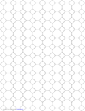 Tessellation Graph Paper (4.8.8)