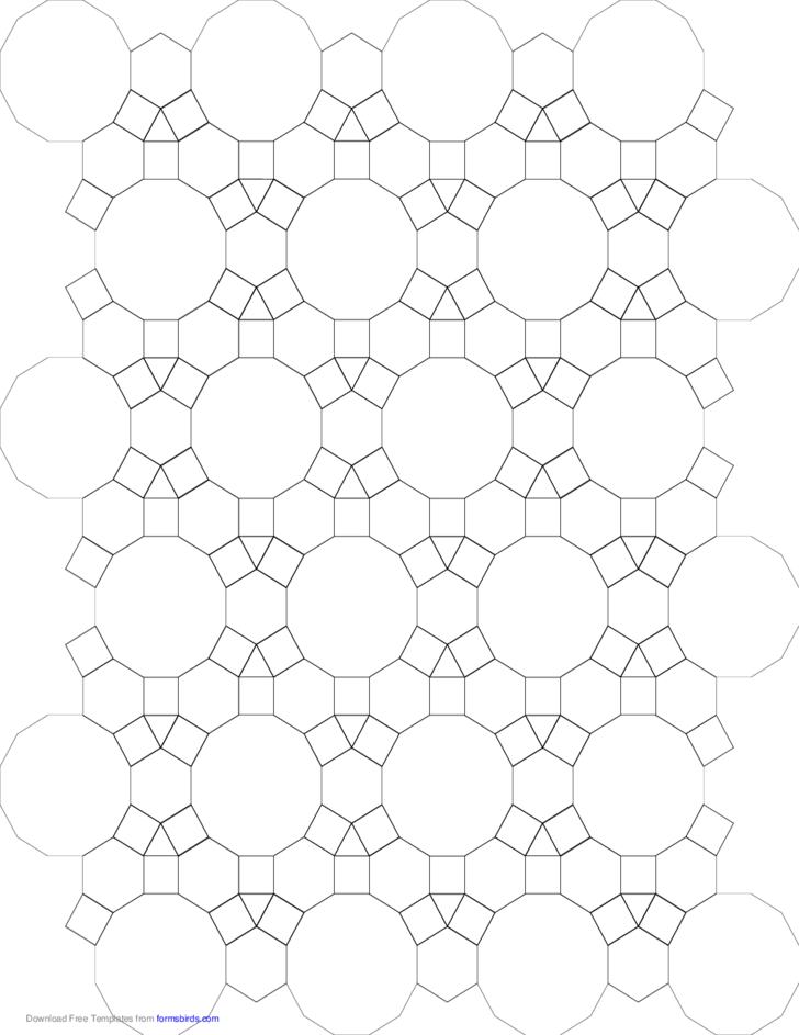tessellation small graph paper  3 4 6 4  4 6 12  free download
