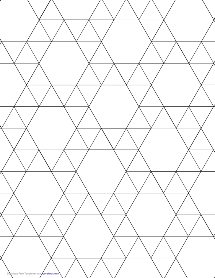 Tessellation Graph Paper (3.3.3.3.6)