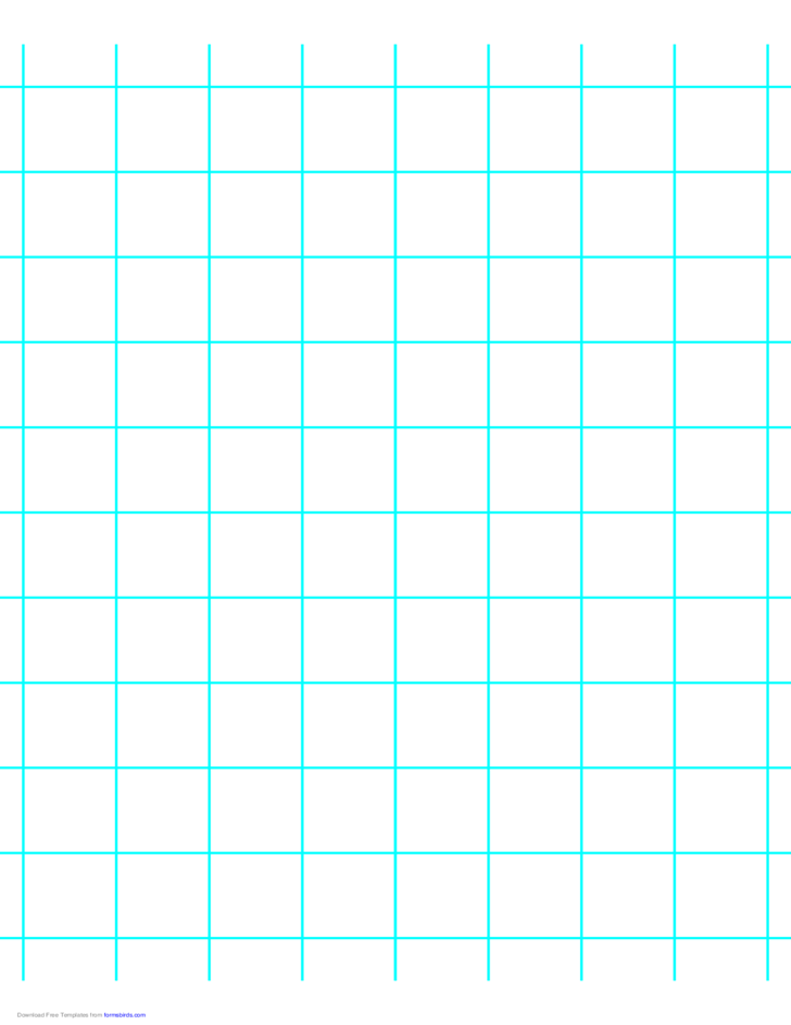 1 Line per Inch Graph Paper on Letter-Sized Paper (Heavy)