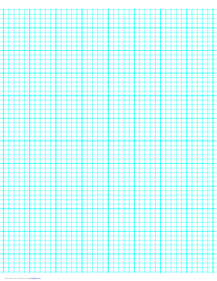 5 Lines per Inch Graph Paper on A4-Sized Paper (Heavy)