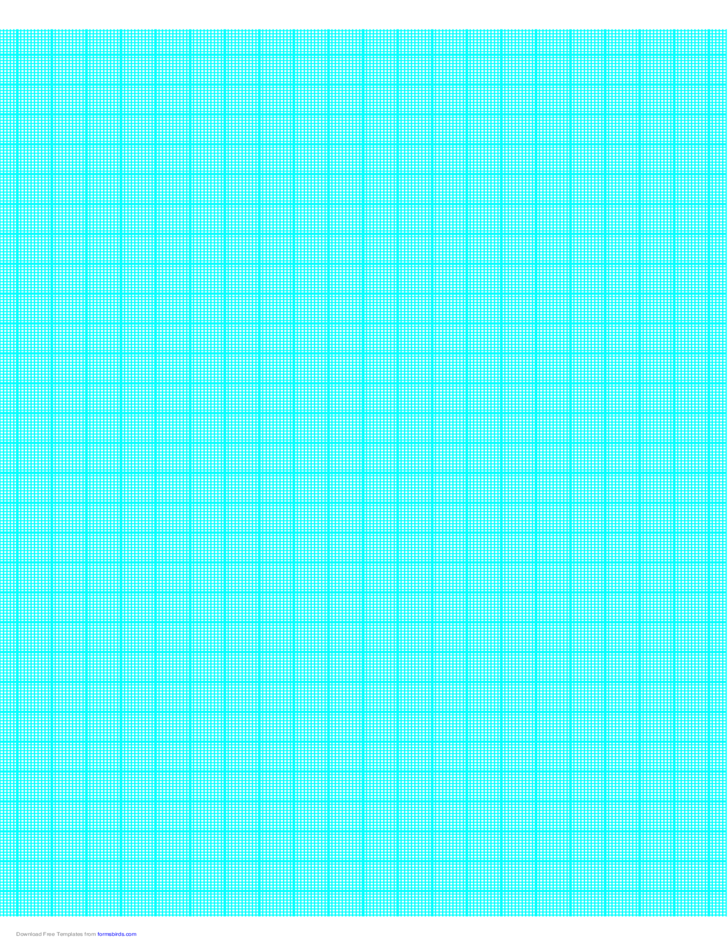 1 Line per mm Graph Paper on A4 Paper (Centimeter)