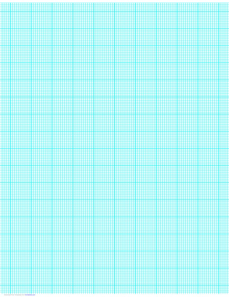 10 Lines per Inch Graph Paper on Ledger-Sized Paper