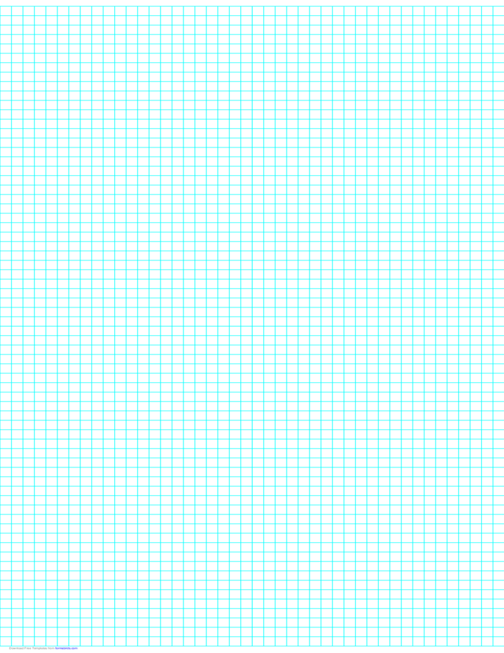 4 Lines per Inch Graph Paper on Ledger-Sized Paper