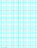 1 Line per 5 mm Graph Paper on Legal-Sized Paper