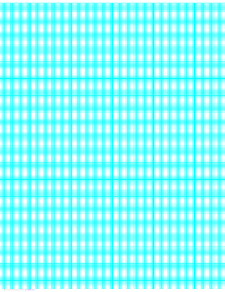 18 Lines per Inch Graph Paper on Ledger-Sized Paper (Heavy)